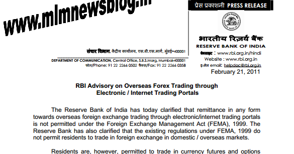 Forex trading in india rbi guidelines