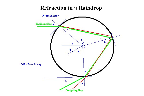 how do rainbows form A rainbow looks like a multicoloured arc, and is formed from white light that has been split up we might think of white as a 'pure' colour, but it is actually a mixture of all the colours of light.
