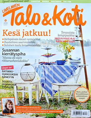 Vi finns med i Unelmien Talo & Koti 8/2014