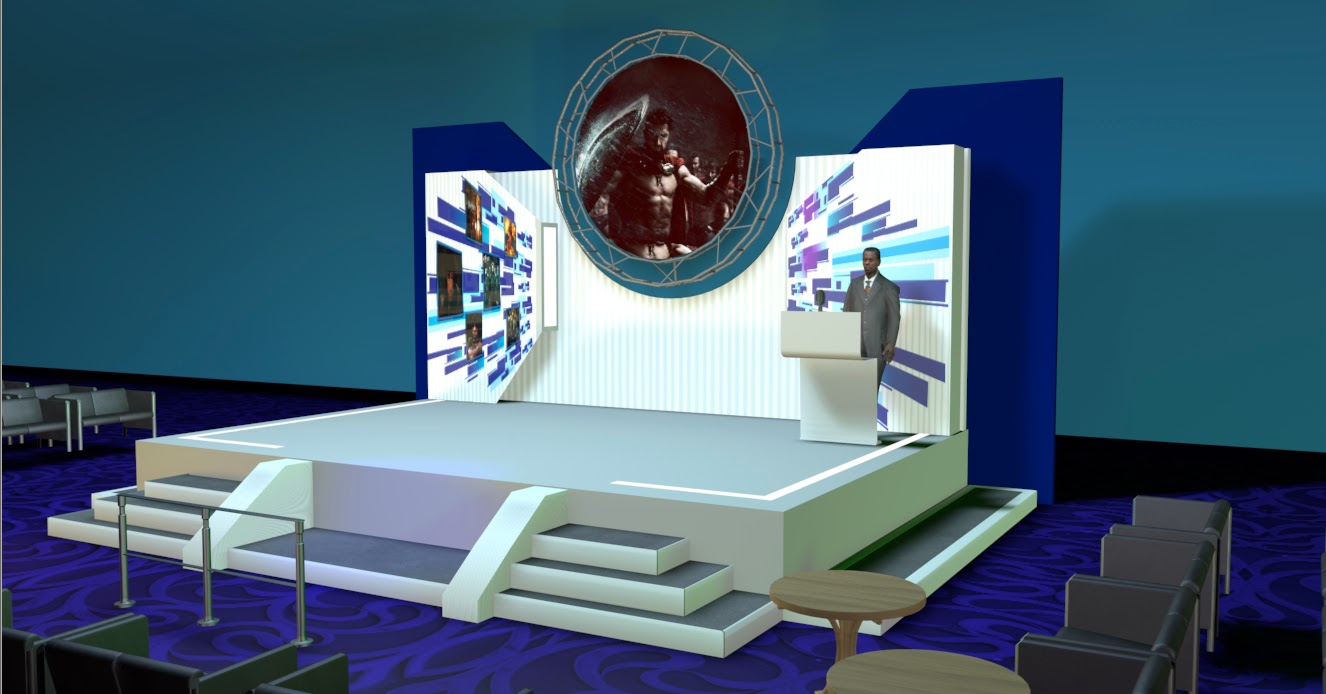 Stage Design in 3d For Event