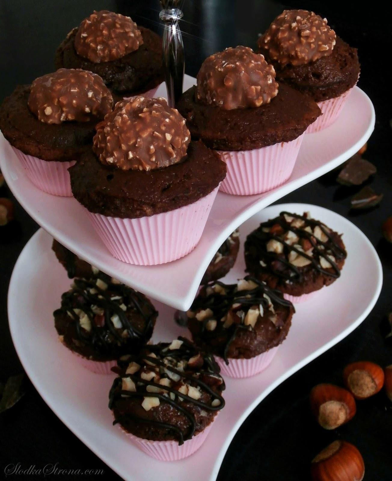 Babeczki Ferrero Rocher - Przepis - Słodka Strona