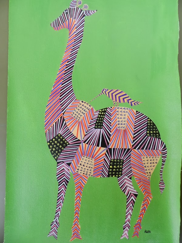 Gond Art by Ahambhumika, Image courtesy Ahambhumika