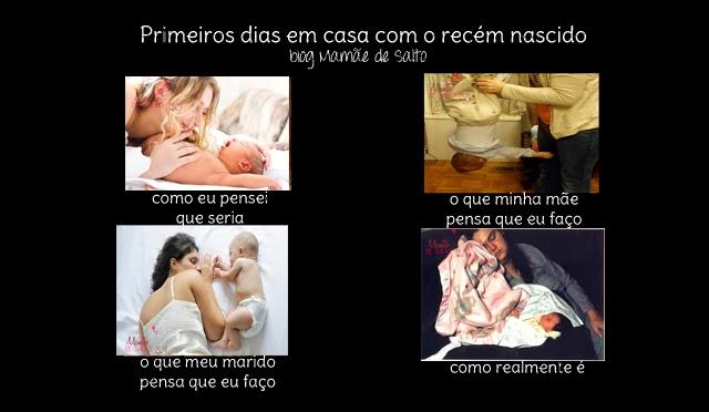 como são os primeiros dias em casa com recém nascido blog Mamãe de Salto