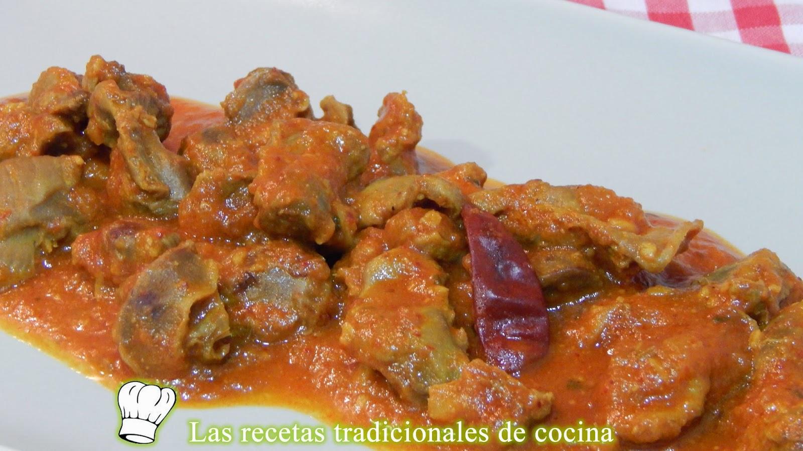 receta de mollejas de pollo en salsa recetas de cocina