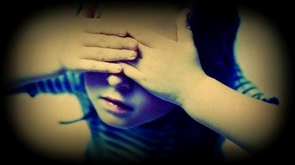 agudeza, tapar, ojos, brazo, niña, acariciar, fantasía, fantasia,