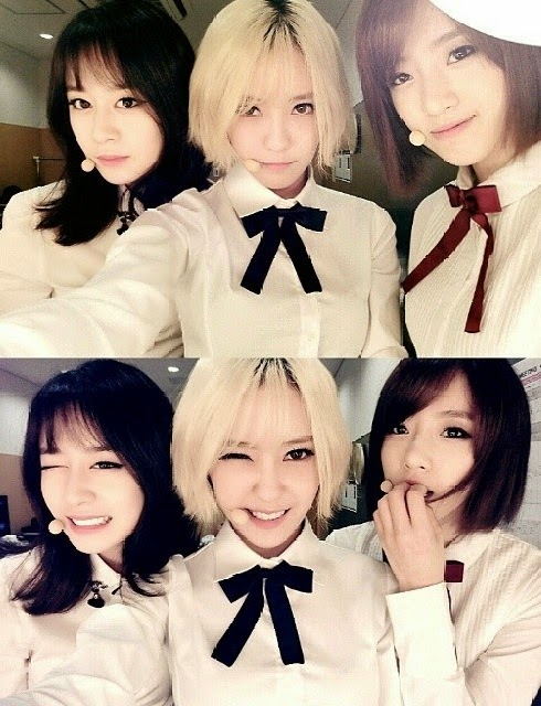 jiyeon hyomin eunjung selca picture