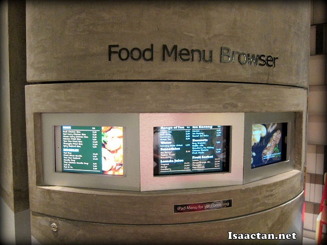 A special spot to glance through all the food menus