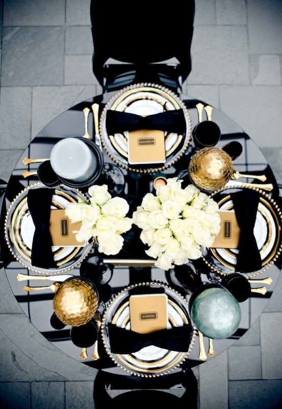 Black Champagne And Gold Wedding Black Gold And Ivory Wedding