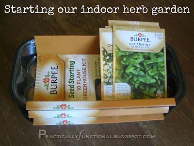 Start an indoor herb garden from seeds