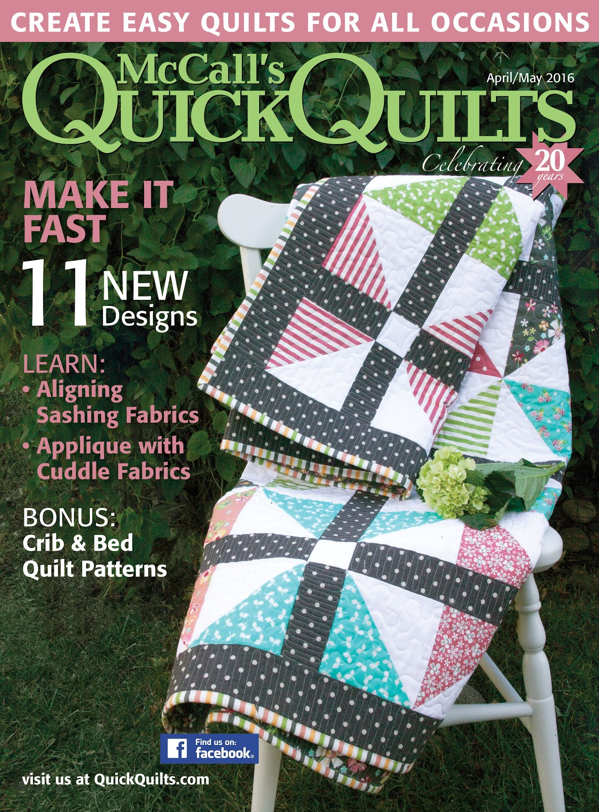 Check out my Polka Dot Playground quilt in this month's issue