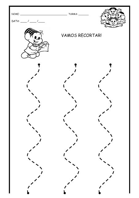 Eu Aprendocom Atividades De Recorte Coordenação Motora