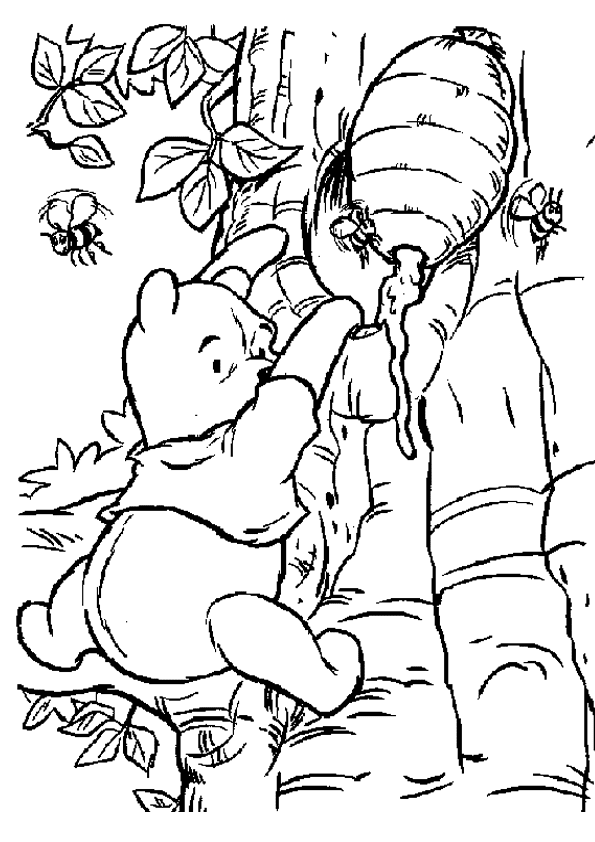 winnie the pooh para colorear