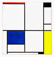 Imagen Cuadro I, con negro, rojo, azul y amarillo de Mondrian . Entrada explicando las composiciones equilibradas, armónicas utilizando los tres colores primarios. Ejemplos de obras de Vermeer, Picasso, Miró y Mondrian. Ensayo escrito por Juan Sánchez Sotelo para la Academia de dibujo y pintura Artistas6 de Madrid. Clases y cursos para aprender a dibujar y pintar