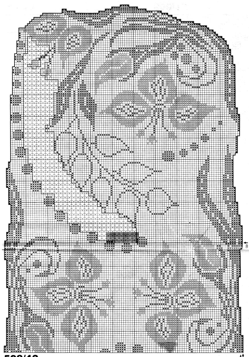 Вязание филейное дорожка 1103