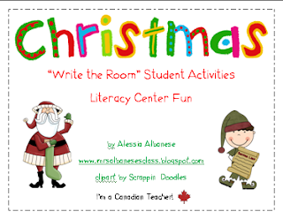 http://www.teacherspayteachers.com/Product/Write-the-Room-Literacy-Center-Student-Activities-Christmas-Theme-166116
