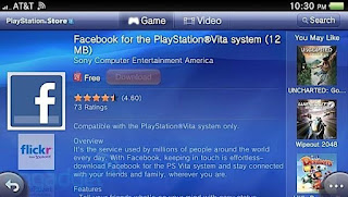Facebook App for PlayStation Vita Reported Problems