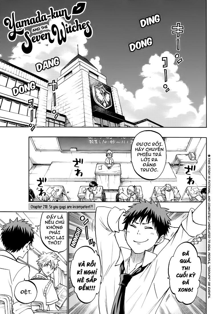 Yamada kun to 7 nin no Majo Chap 218 - Trang 1
