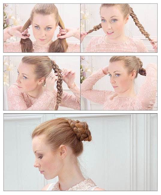 How To Make Braided Bun Prom Hairstyle