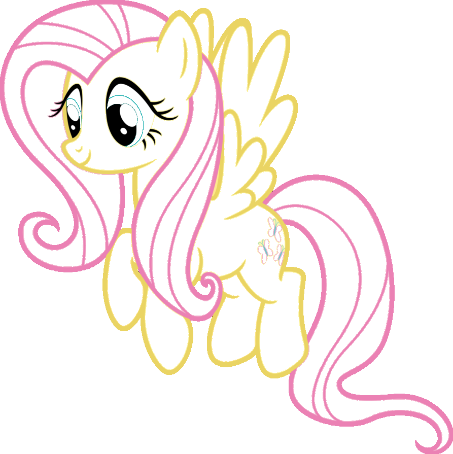 fluttershy flying coloring pages