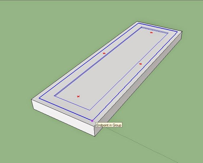 penggunaan perintah move pada sketchup.