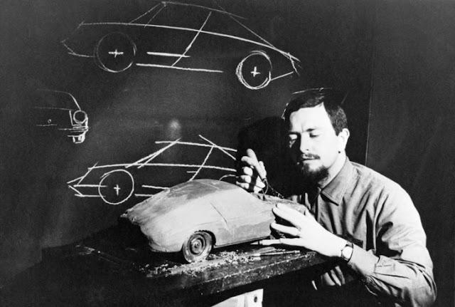 Ferdinand Alexander Porsche al lavoro sul progetto 901