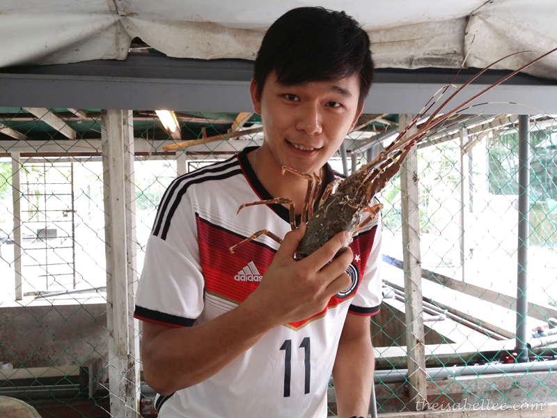 Louis with lobster from Tropicana Ebi Fishing