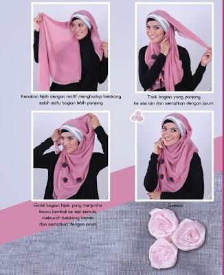 jilbab segiempatpun bisa dikreasikan seperti model jilbab pashmina ...