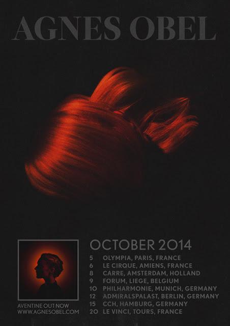 """Agnes Obel - """"Aventine"""" tour (seconde partie octobre 2014"""