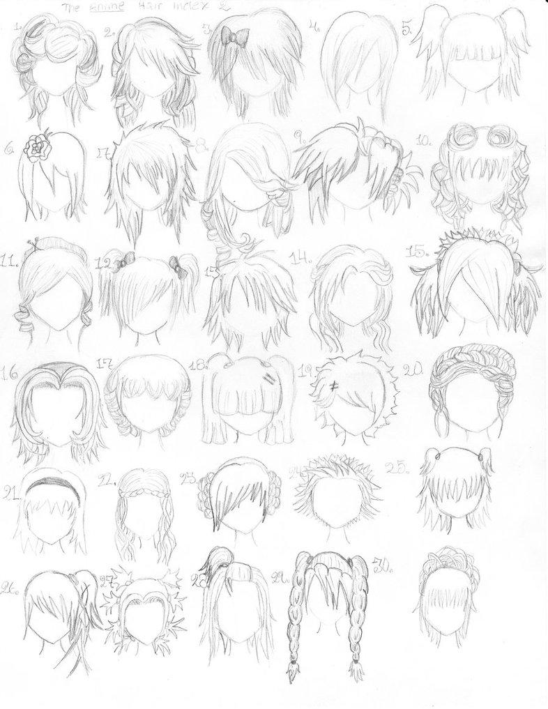 anime hair drawing: Anime Blog: Anime Hair