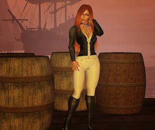 redhead pirate glasses boots