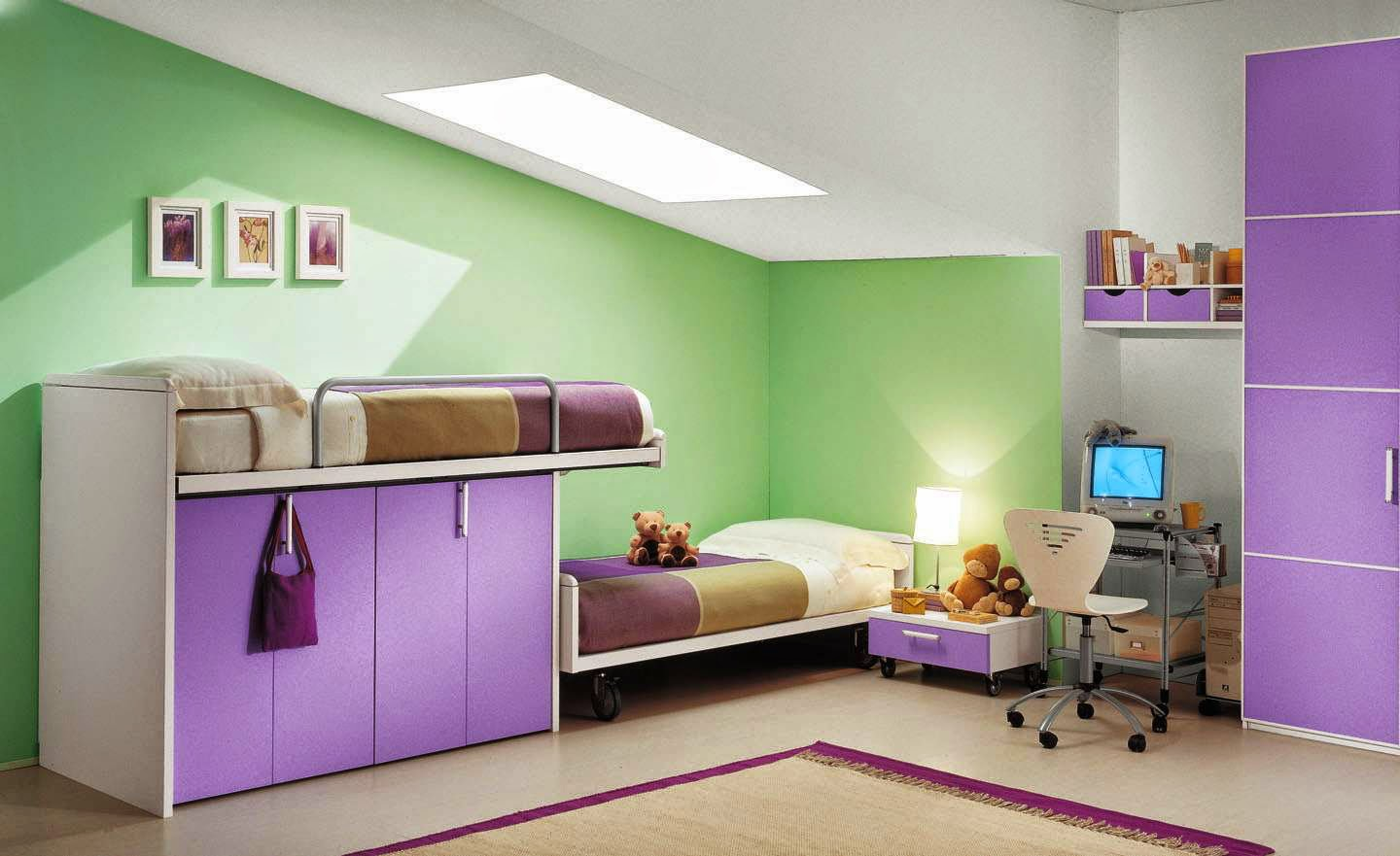Child-room-Minimalist-Bedroom-Color-Purple-Beautiful