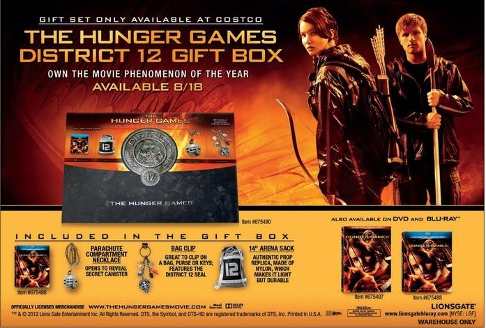 blu ray dvd exclusives the hunger games costco exclusive gift