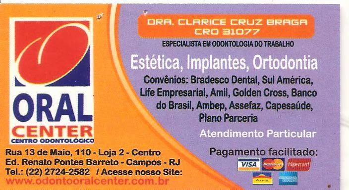 Oral Center - Drª Clarice Cruz Braga