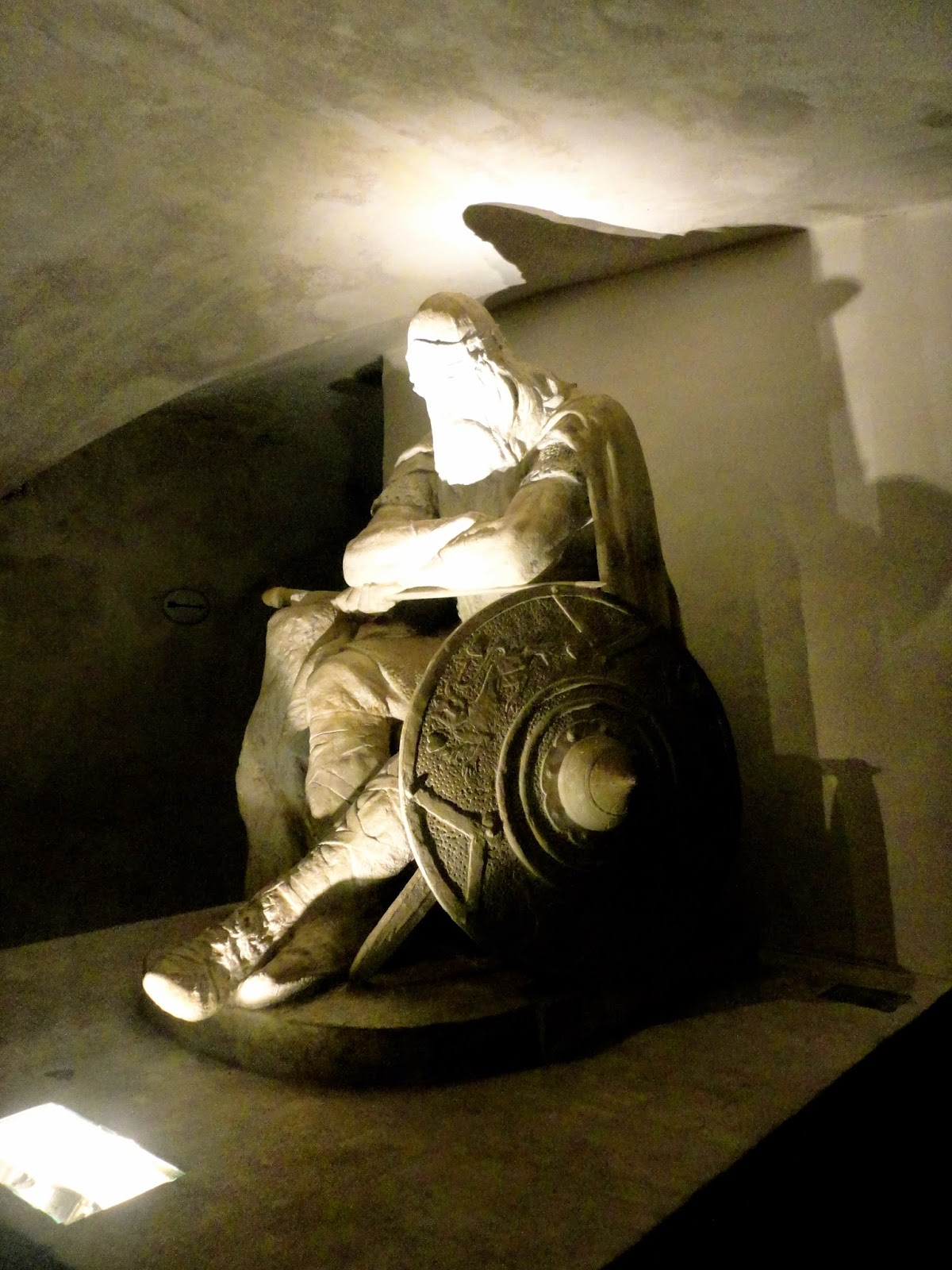 Holger the Dane statue in Kronborg underground casement