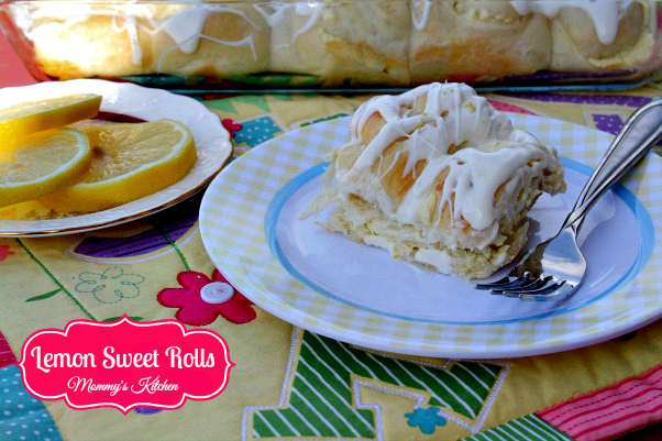 lemon sweet rolls with lemon curd filling  {using rhodes frozen bread dough)