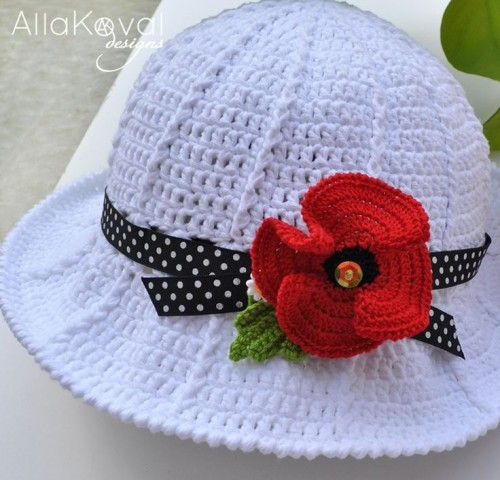 Garden Party Crocheted Hat - Free Pattern