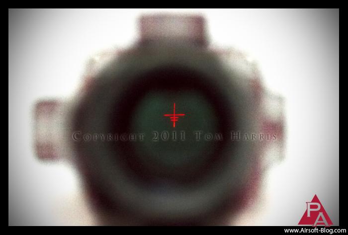 Sun Optics, ACOG-style red dot sight, green dot sight, illuminated reticle, Airsoft AEG Rifle Optics, Airsoft weapon-mounted optics, Pyramyd Airsoft Blog, Tom Harris Media,