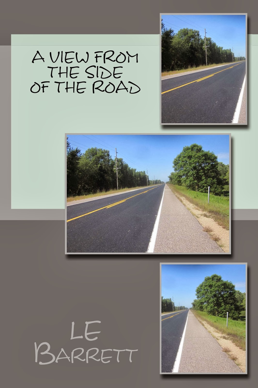 http://www.amazon.com/View-From-The-Side-Road-ebook/dp/B00IACRFGM/ref=sr_1_1?ie=UTF8&qid=1393604321&sr=8-1&keywords=le+barrett