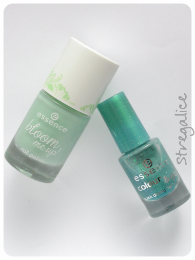 Essence Glisten Up! and Blow My Mint shimmer teal