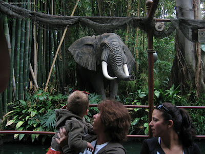 Disneyland elephant Jungle Cruise river ride