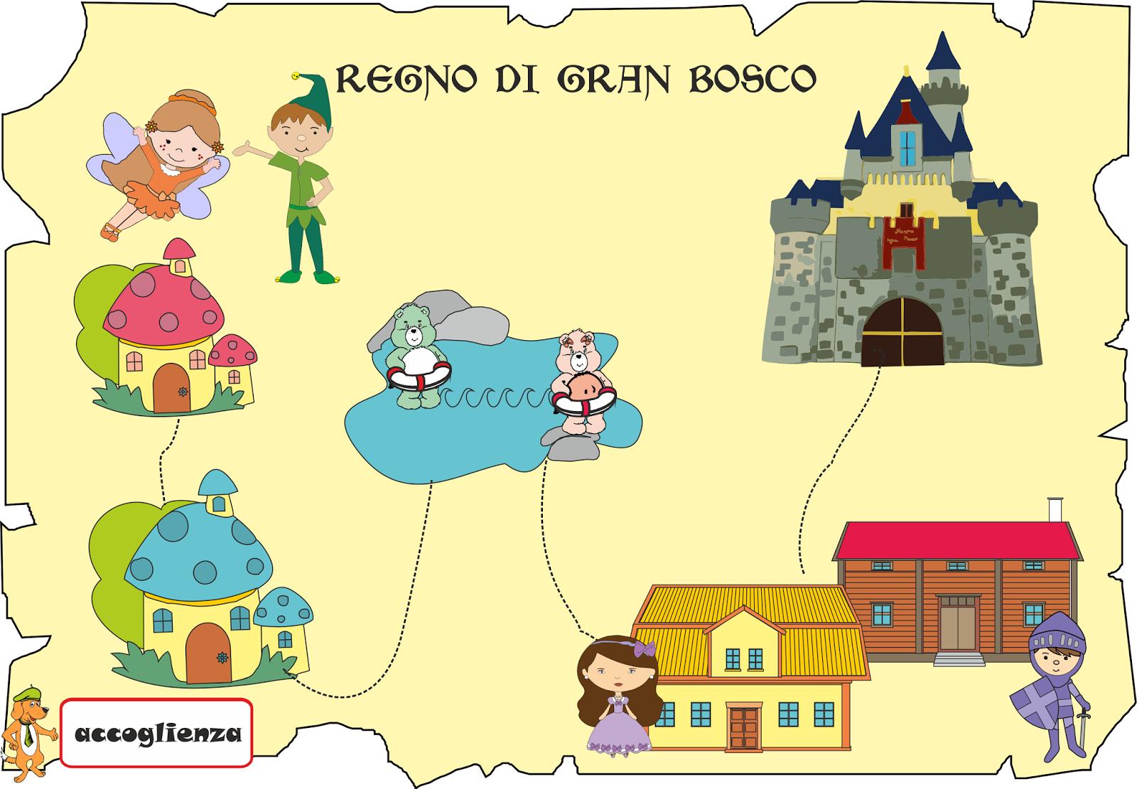 A scuola con poldo seconda tappa la mappa di gran bosco - Mappa dell inghilterra per i bambini ...