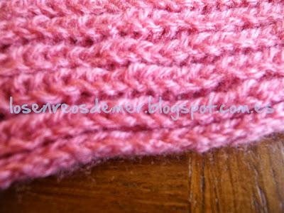 Borde de la bufanda con su cadeneta como remate