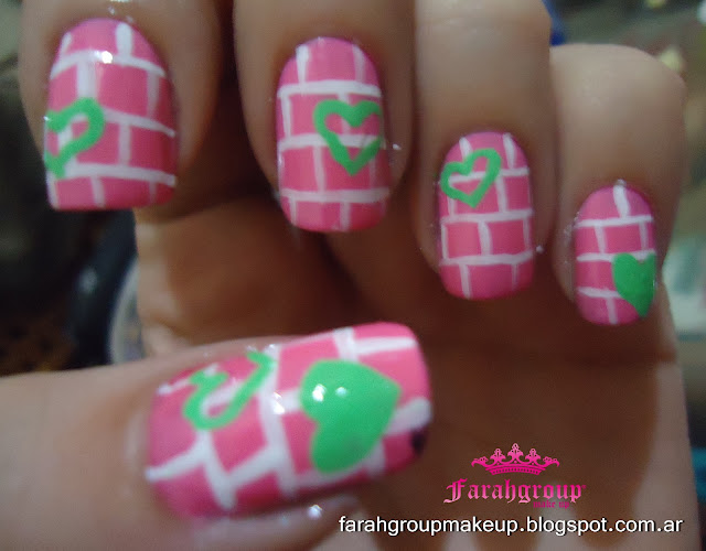 Nail Art lineas rectas