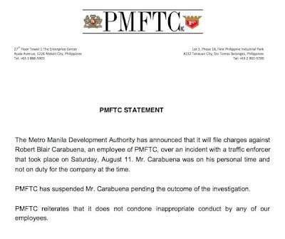 Robert Blair Carabuena suspended