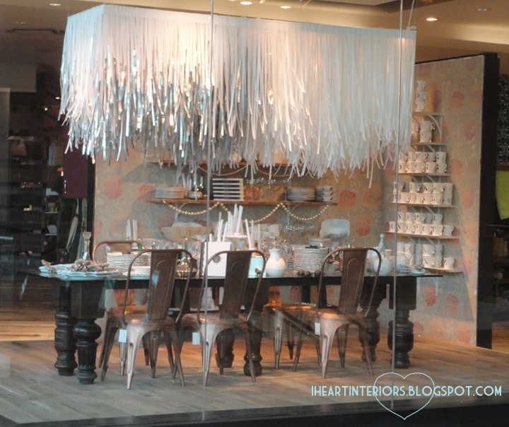 i heart interiors Anthropologie Displays For the Holiday