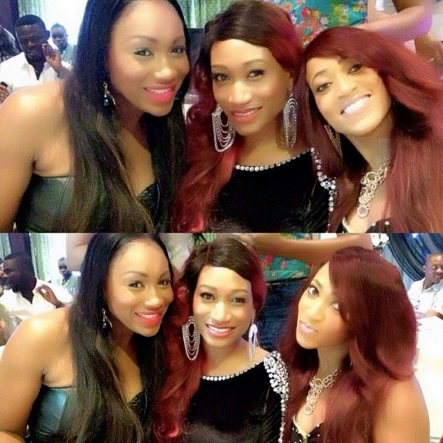 Picture of Oge Okoye Rukky Sanda Ebube Nwagbo together at Glam Launch