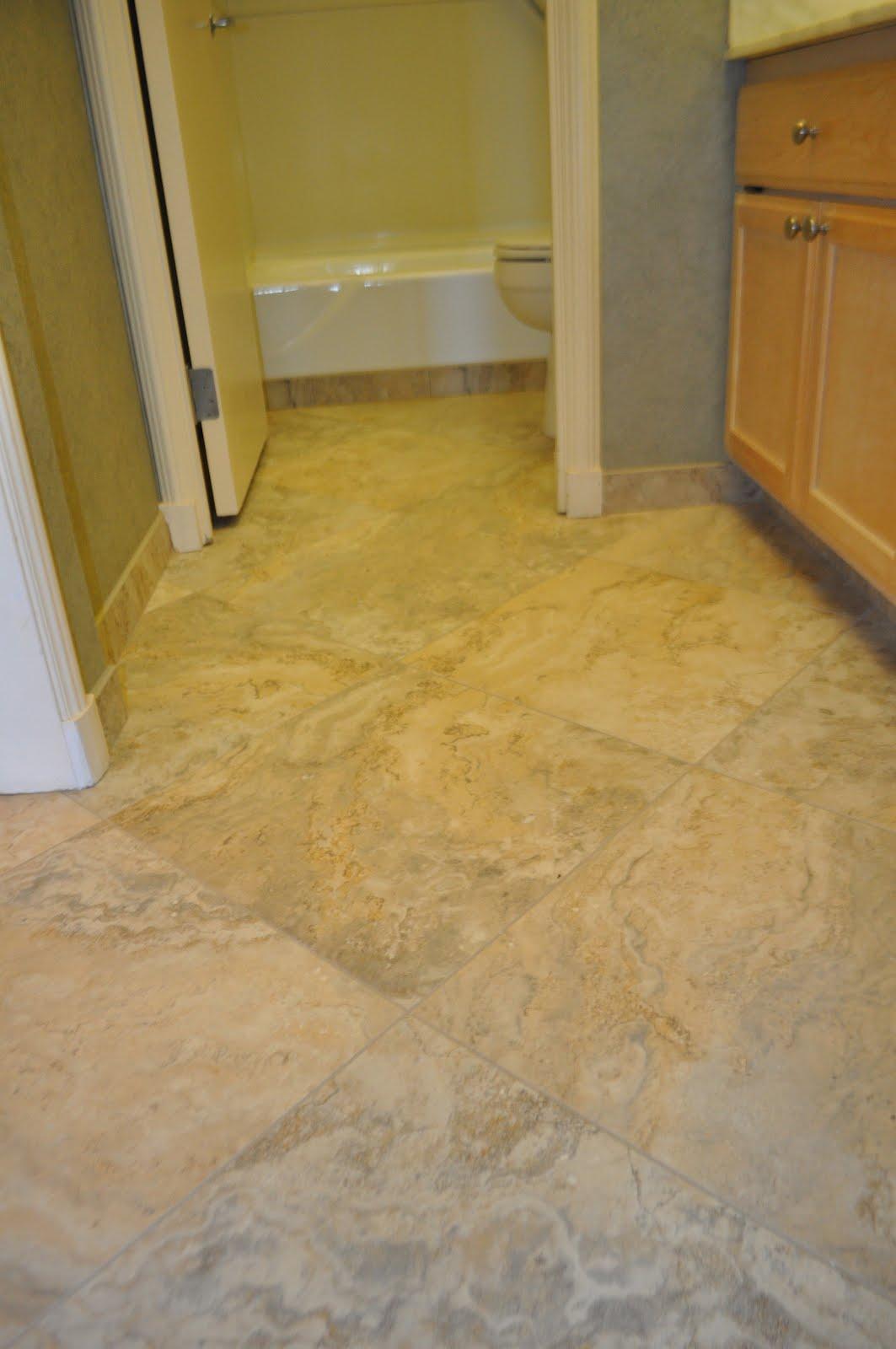 Tile floor baseboard