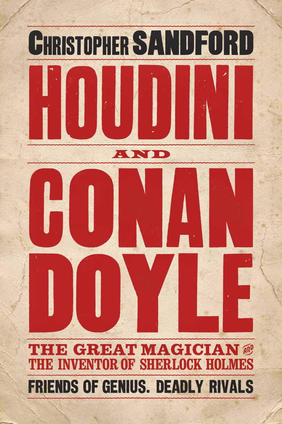 Book cover of Houdini and Conan Doyle by Christopher Sandford