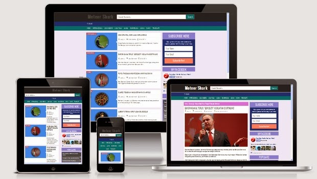 Free Template Responsive Moteor Shark Valid HTML5 dan CSS3