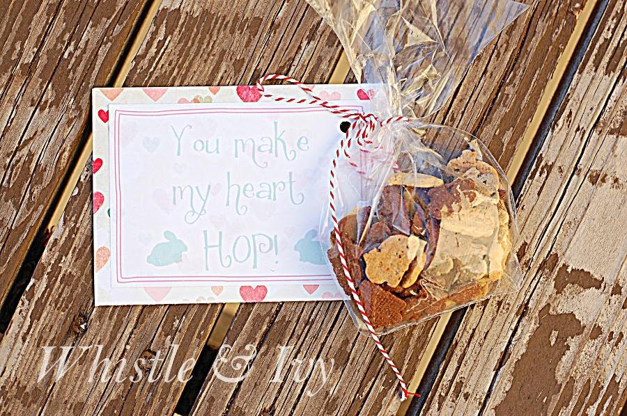 you make my heart hop free Valentine's Day printable bunny grahams